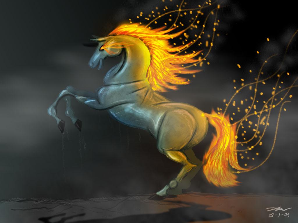 Fire Horse Wallpaper , HD Wallpaper & Backgrounds