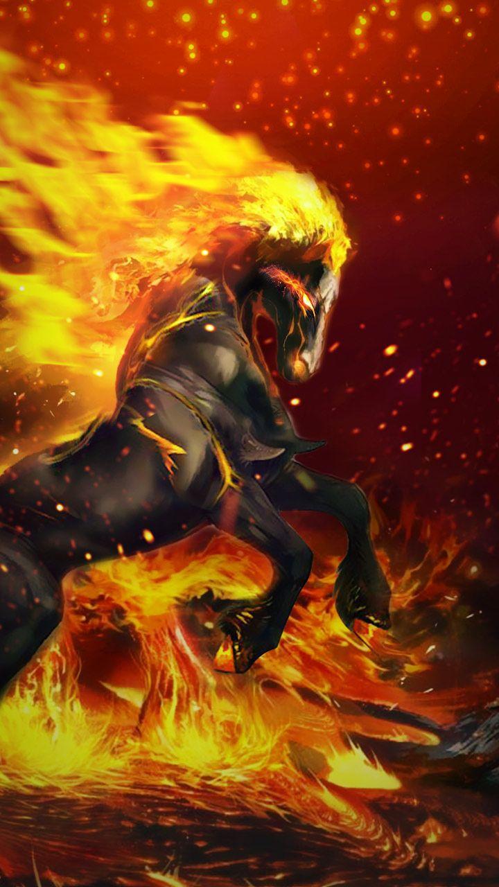 Fire Flaming Horse Wallpaper - Lucky Horse Wallpaper Hd , HD Wallpaper & Backgrounds