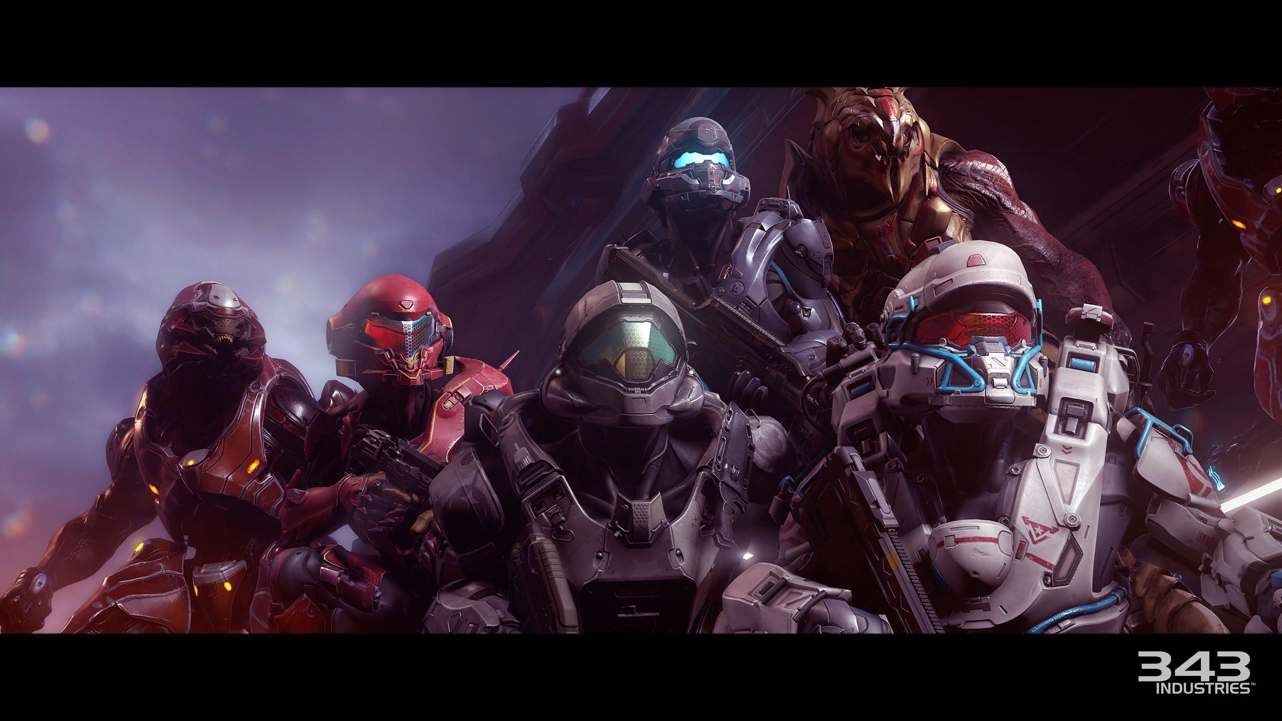 Futuristic Fps Shooter Art Haloguardians Warrior Halo 5
