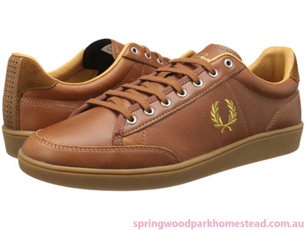 pretty nice outlet online best quality Fred Perry Leather Black White Brown Hopman - Suede (#1973684 ...