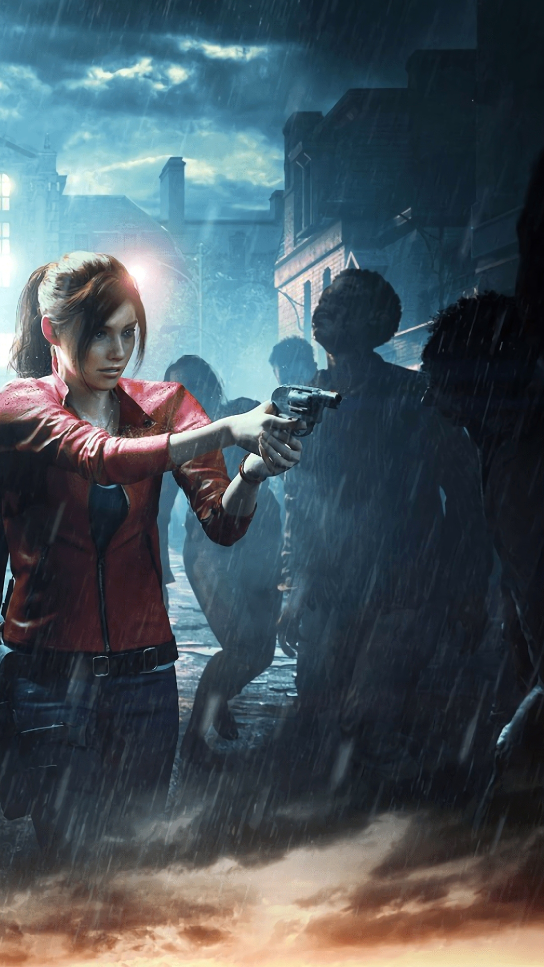Resident Evil 2 Leon Claire Surrounded Video Game Resident