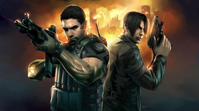 Resident Evil 6 1080p Wallpaper - Resident Evil Leon Y Chris , HD Wallpaper & Backgrounds