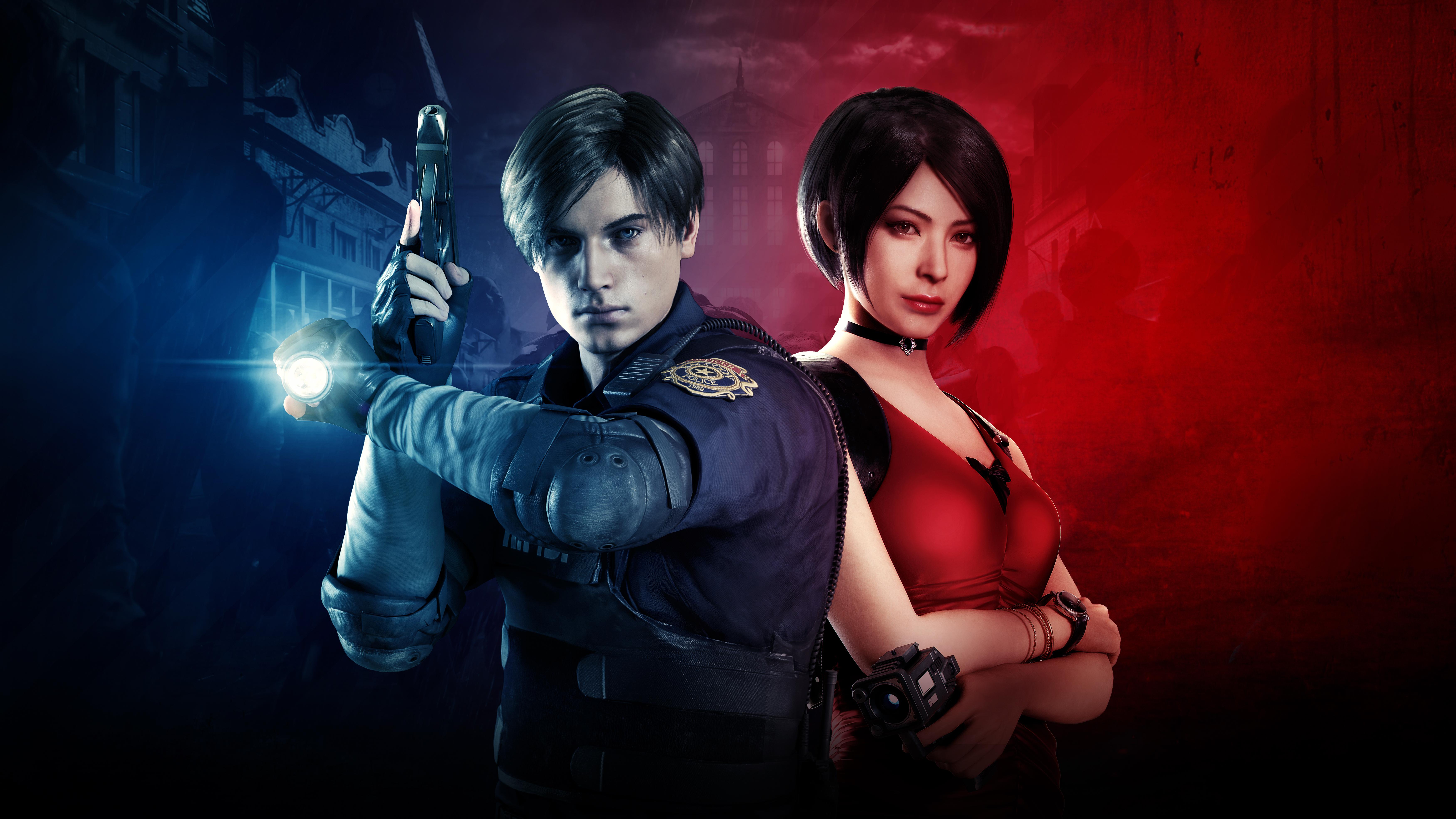 Leon And Ada Wong Resident Evil 2 2019 8k Resident Evil 2 Leon