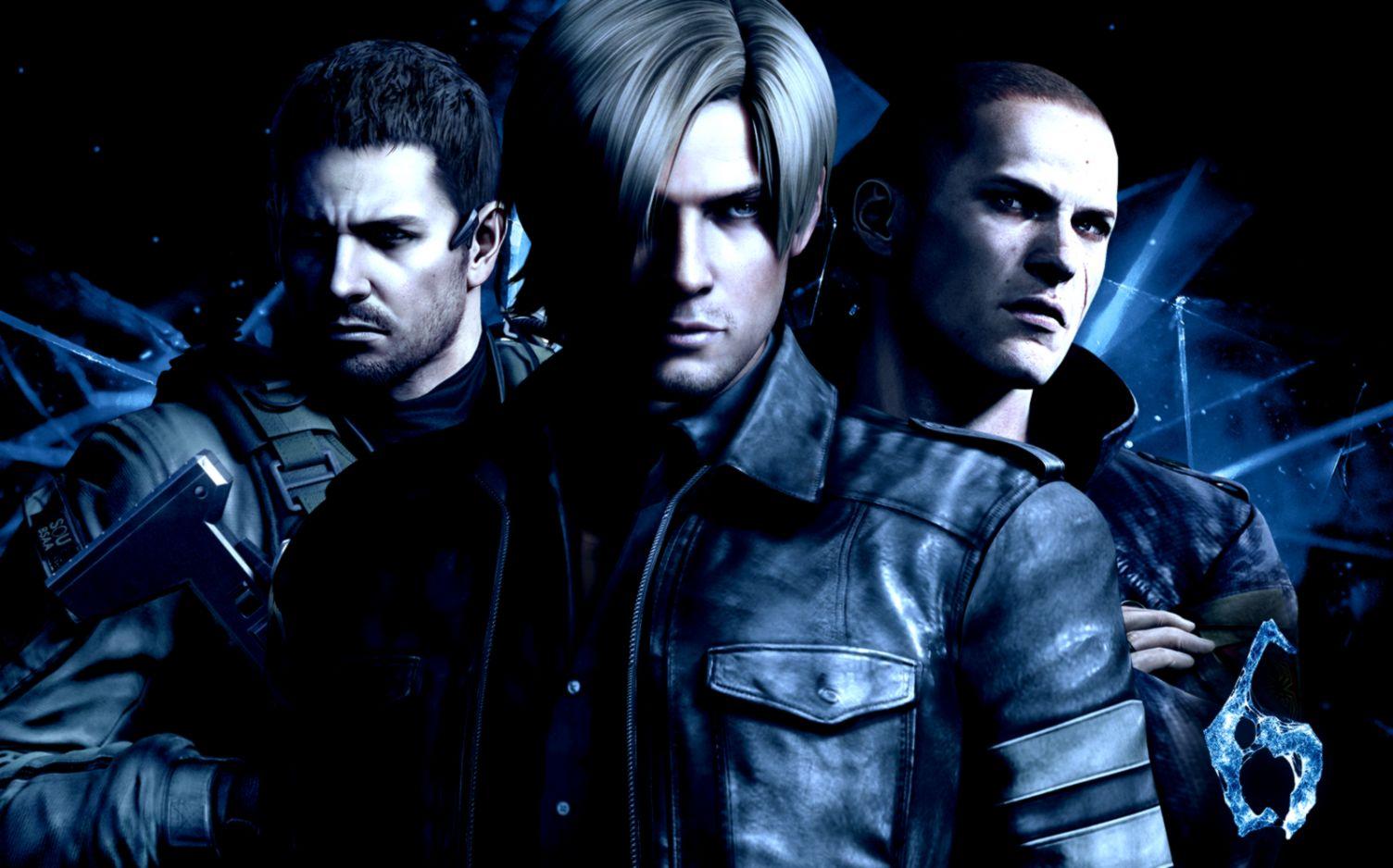 View Original Size - Leon Chris Jake Resident Evil 6 , HD Wallpaper & Backgrounds