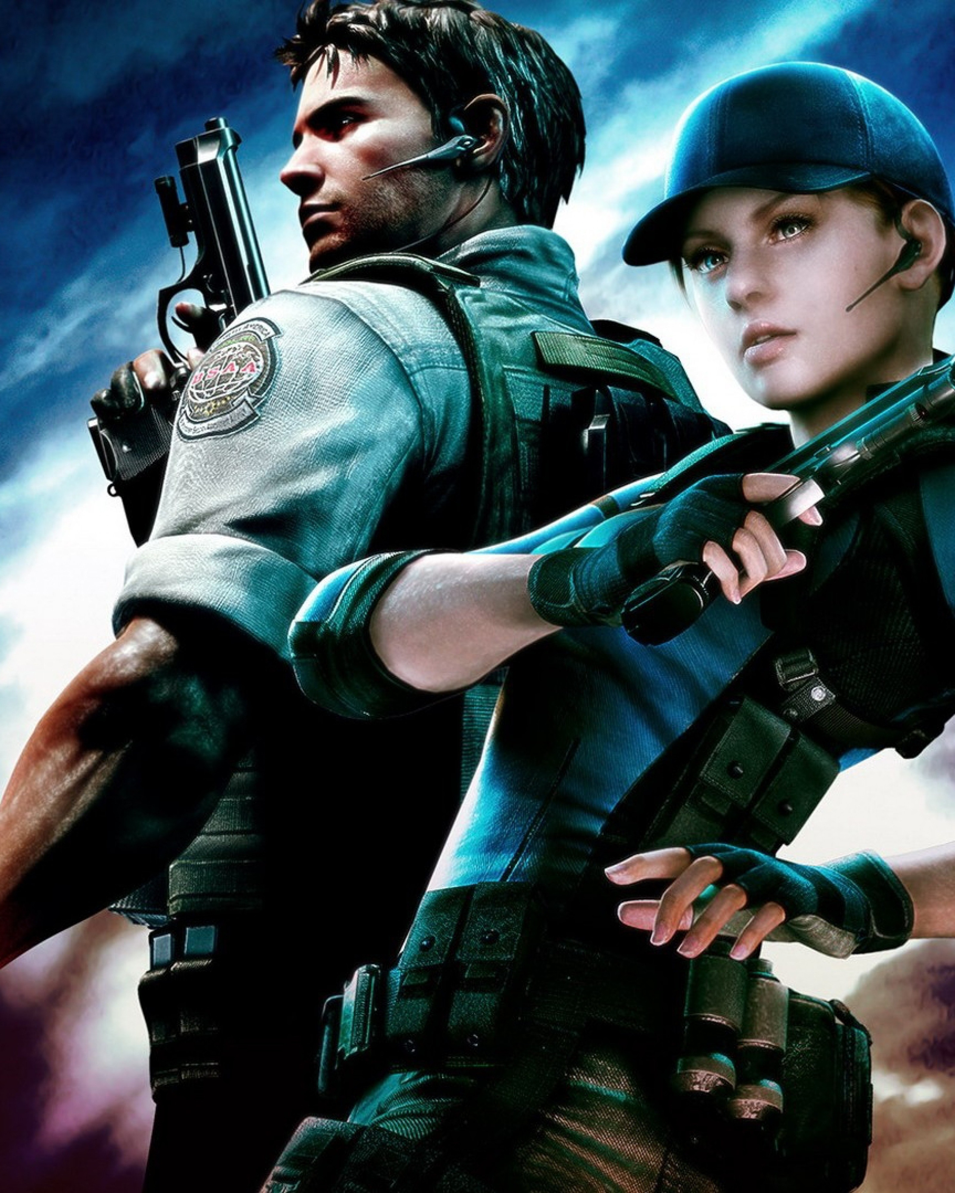 Resident Evil Jill Valentine Chris Redfield Wallpaper