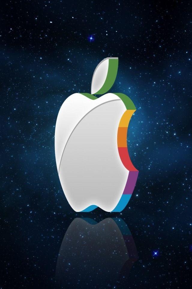 197 1978100 apple logo space iphone 4s wallpaper 3d