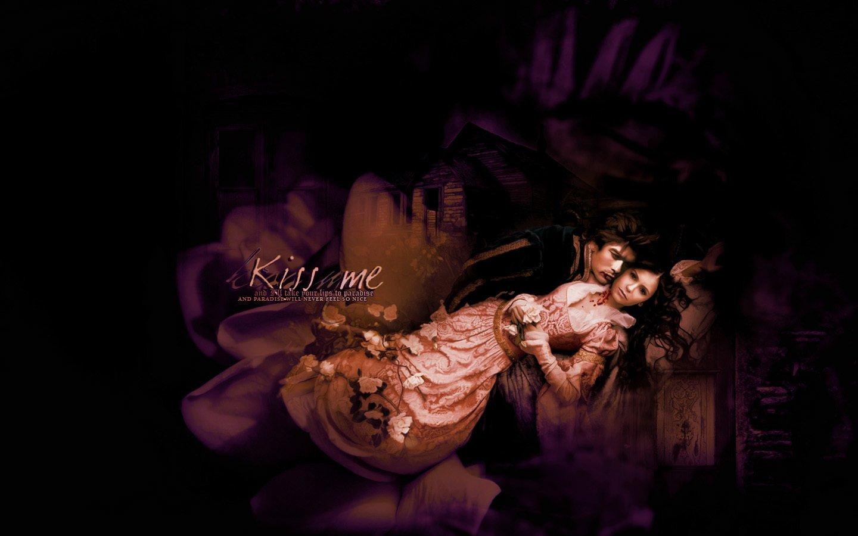 Vampire Widescreen Wallpaper - Damon And Elena Photoshop , HD Wallpaper & Backgrounds
