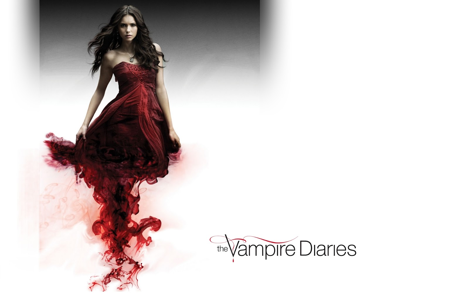 By Ashleigh Latta Wallpaper For Iphone - Nina Dobrev Red Dress Tvd , HD Wallpaper & Backgrounds