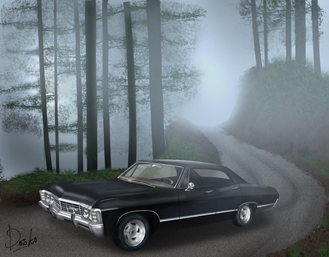 Supernatural Wallpaper Celular Supernatural The Animation Impala