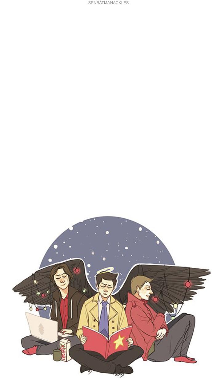 Supernatural Wallpaper Lockscreen Christmas Cartoon