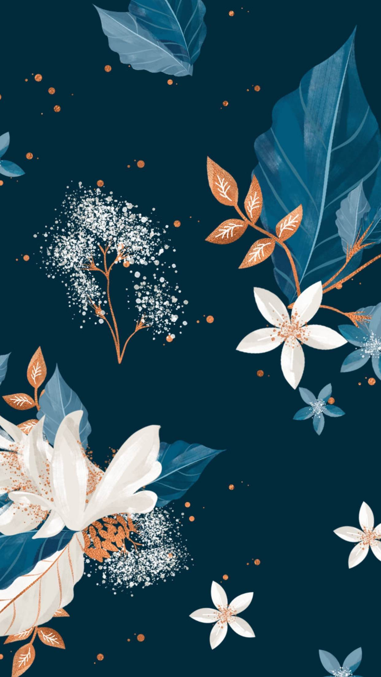 Floral Wallpaper,floral Wallpapers,floral Wallpaper - Spring Popular Glitter Wallpaper For Iphone , HD Wallpaper & Backgrounds