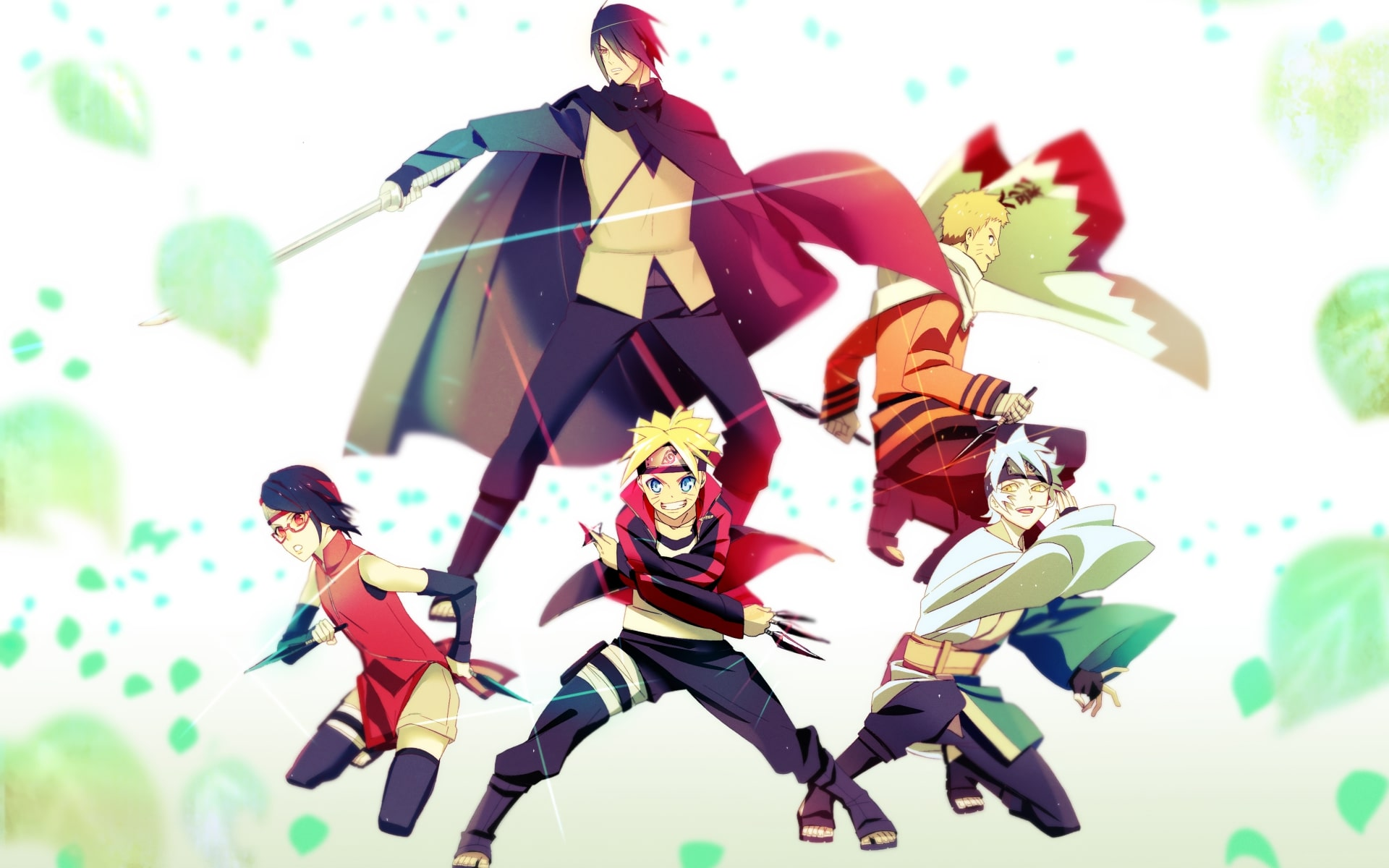 Wallpaper Of Boruto, Mitsuki, Sarada, Sasuke, Naruto - Fondos De Pantalla De Sasuke En Boruto , HD Wallpaper & Backgrounds