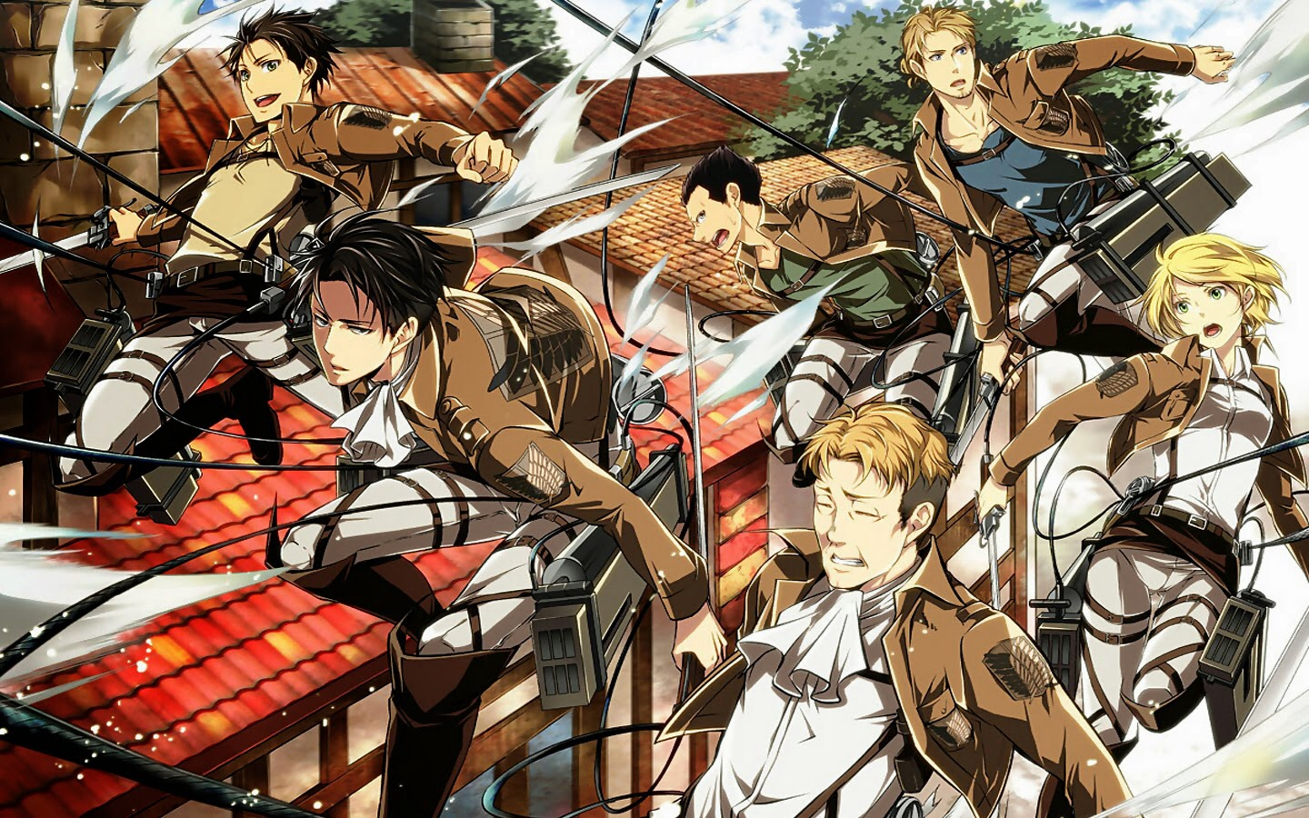 Levi Squad Shingeki No Kyojin Attack On Titan Wallpaper Levi