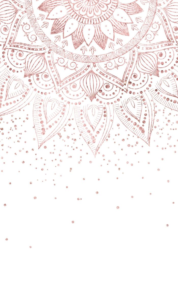 Elegant Rose Gold Mandala Confetti Design Window Curtains