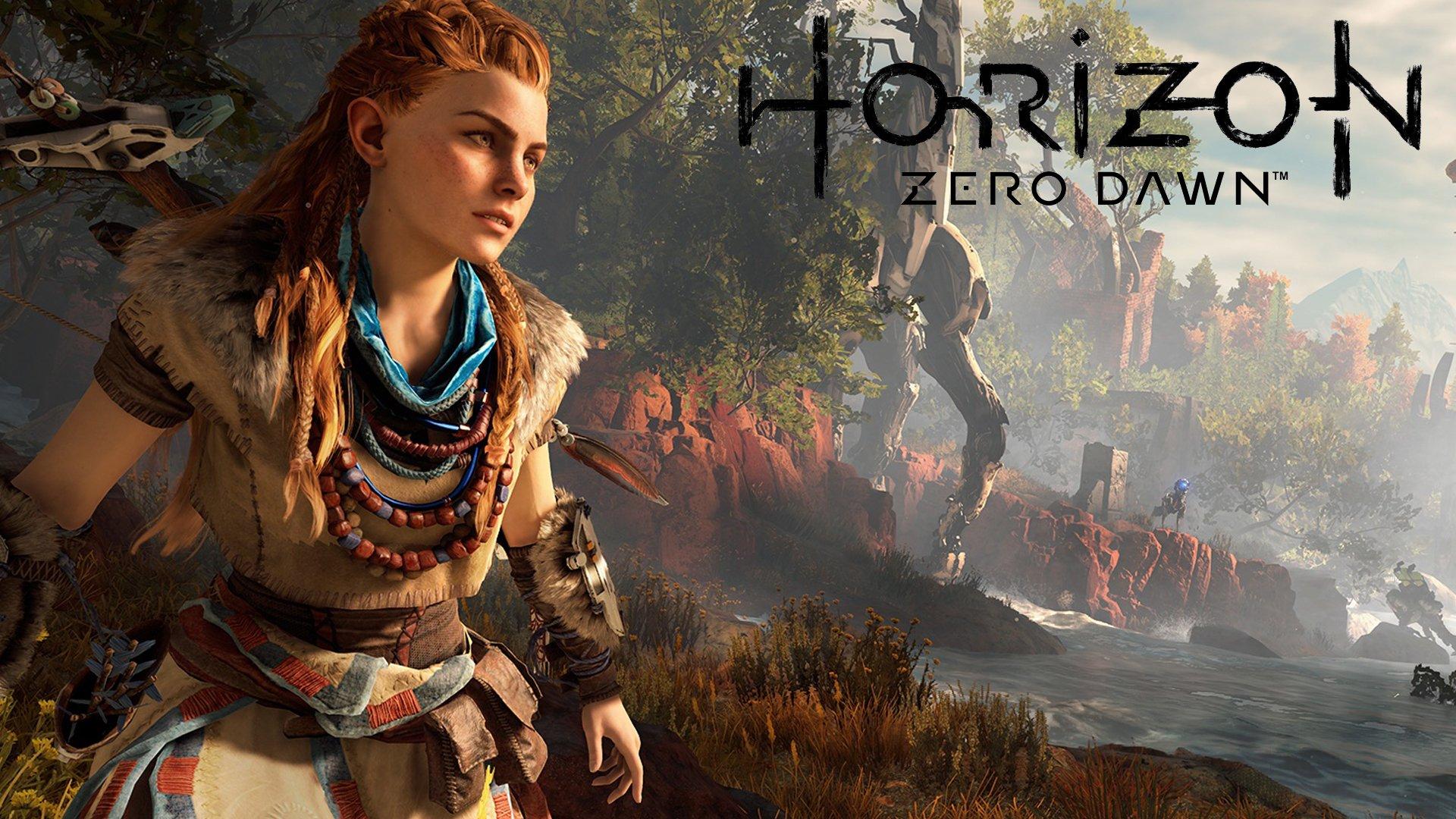 Horizon, Zero, Dawn, Sci Fi, Robot, Cyborg, Dinosaur, - Эксклюзивы Ps4 , HD Wallpaper & Backgrounds