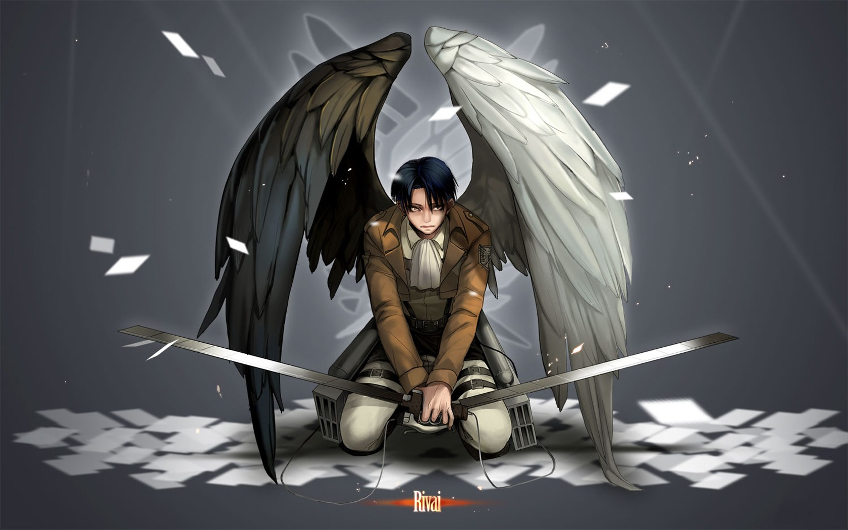 Levi Angel Wings Attack On Titan Wallpaper Download Attack On Titan Levi 22154 Hd Wallpaper Backgrounds Download