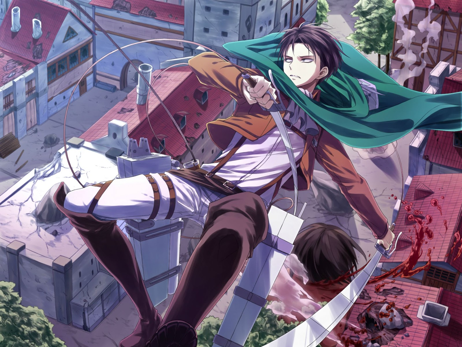 Attack On Titan Wallpaper Levi Attack On Titan Fighting