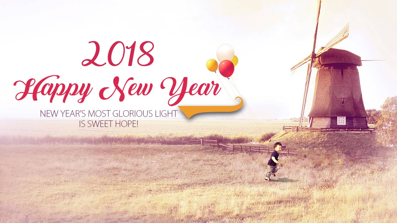 Happy New Year 2018 Images - Happy New Year 2018 , HD Wallpaper & Backgrounds