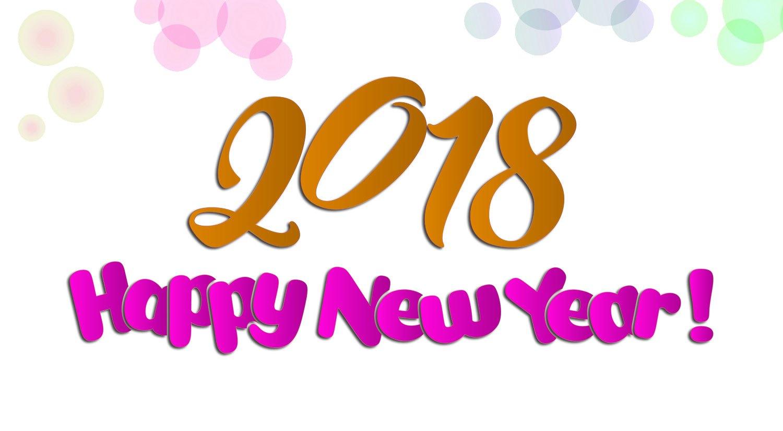 Happy New Year 2018 Wallpaper Happy New Year 2018 Wallpaper - Happy New Year 2018 , HD Wallpaper & Backgrounds