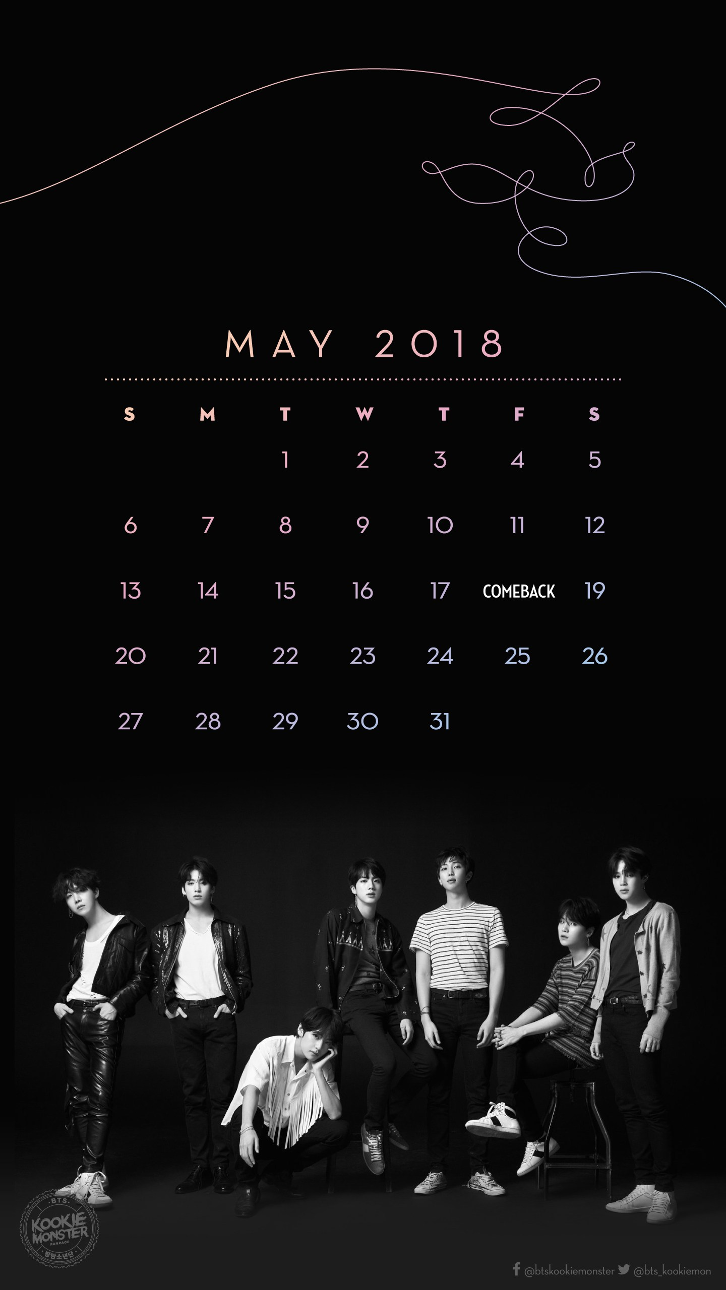 2018 Monthly Calendars Bts The Truth Untold Lyrics 23543 Hd