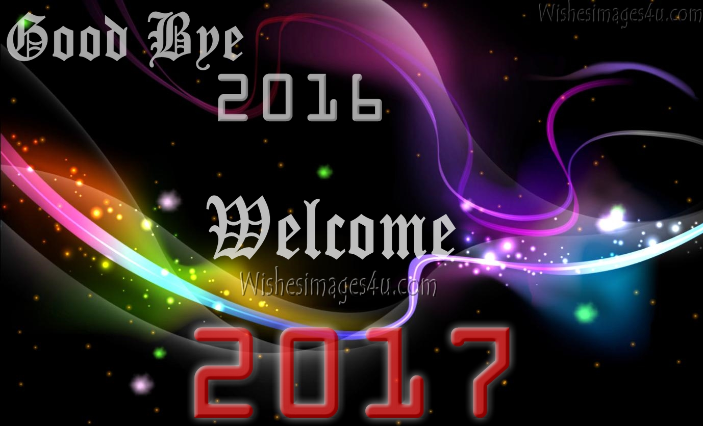 Goodbye 2016 Welcome Happy New Year 2017 Wallpapers - Happy New Year 2018 Goodbye 2017 , HD Wallpaper & Backgrounds