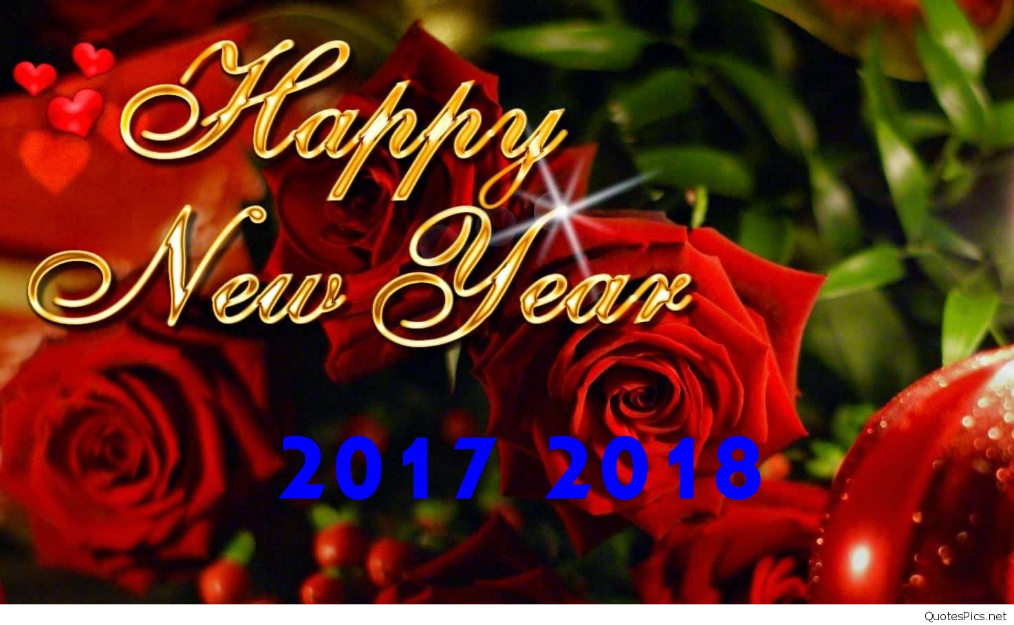 New Wallpaper Happy New Year 2018 - Happy Valentines Day Roses , HD Wallpaper & Backgrounds