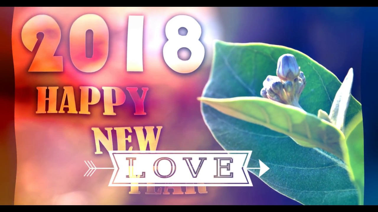 4k Happy New Yeaw 2018 Hd Wallpaper,photos & Greetings - Happy New Year 2018 Wallpaper Love , HD Wallpaper & Backgrounds