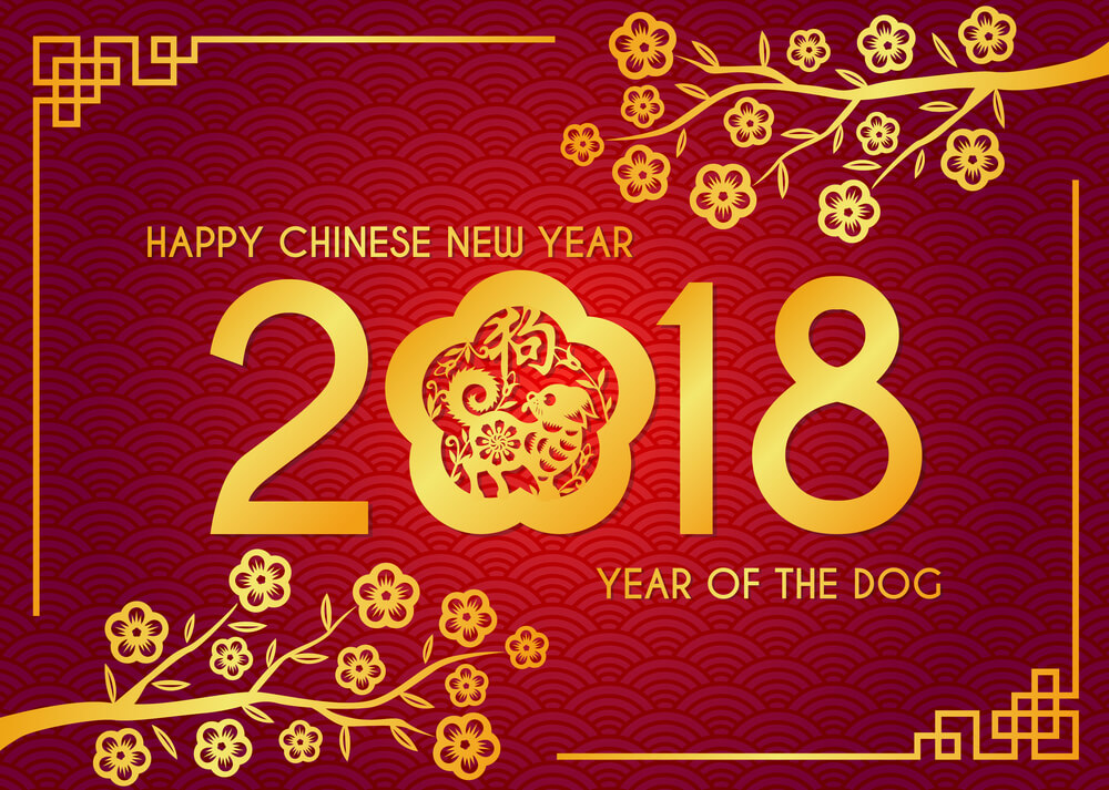 New Year 2018 Wallpaper Download - Happy Chinese New Year 2018 Gif , HD Wallpaper & Backgrounds