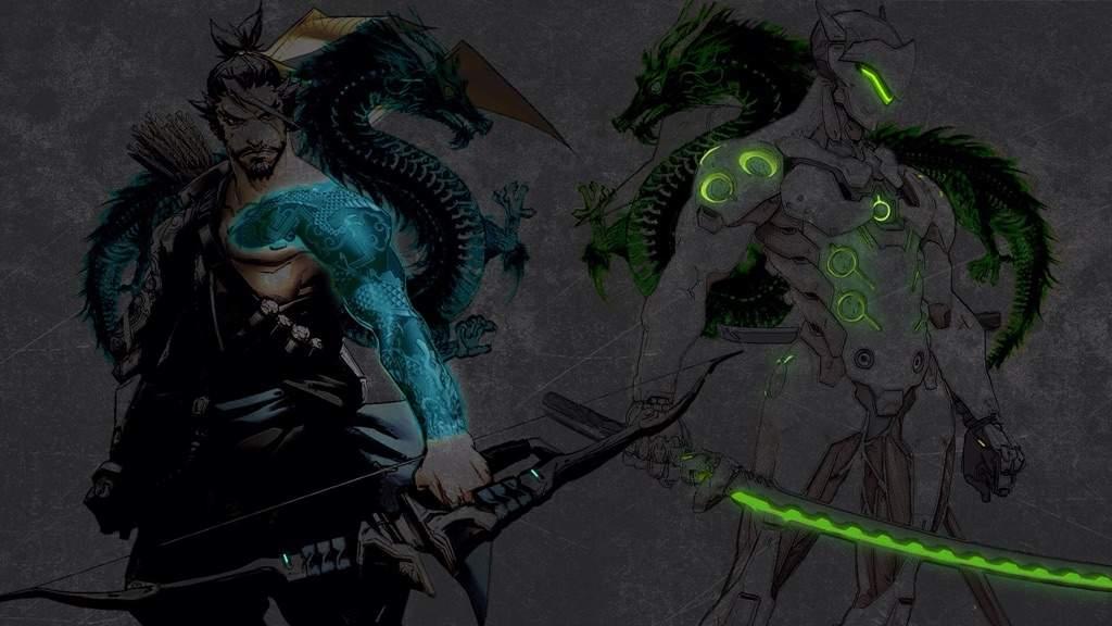 Hanzo And Genji Wallpaper Overwatch Wallpaper Genji Hanzo