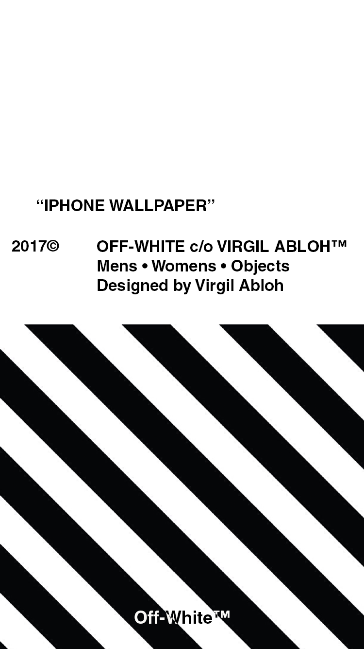 Art Made An Off White Wallpaper For Iphones Off White