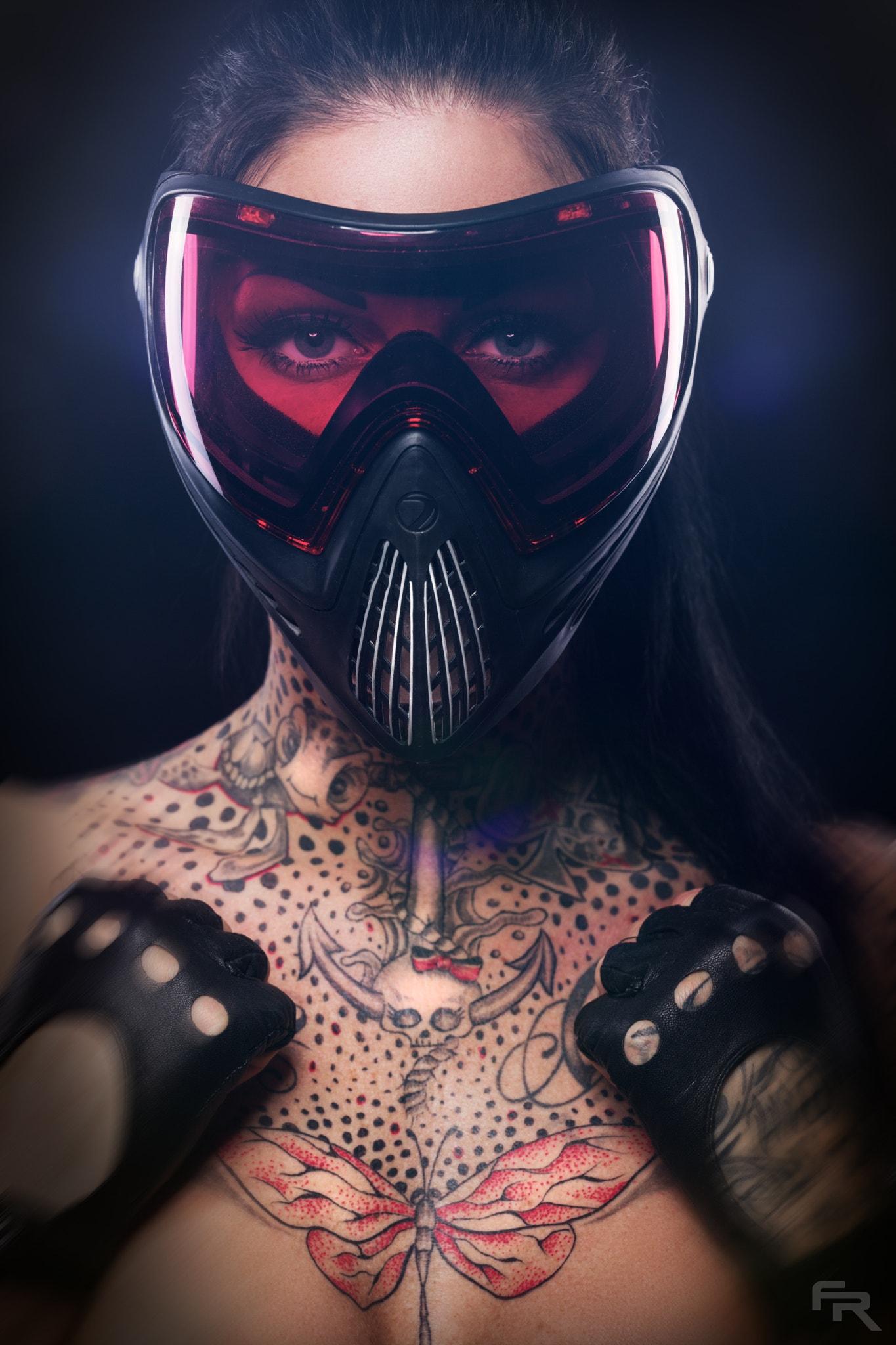 #fr Pixx, #500px, #mask, #tattoo, #women, #model, #face, - Mask Women , HD Wallpaper & Backgrounds