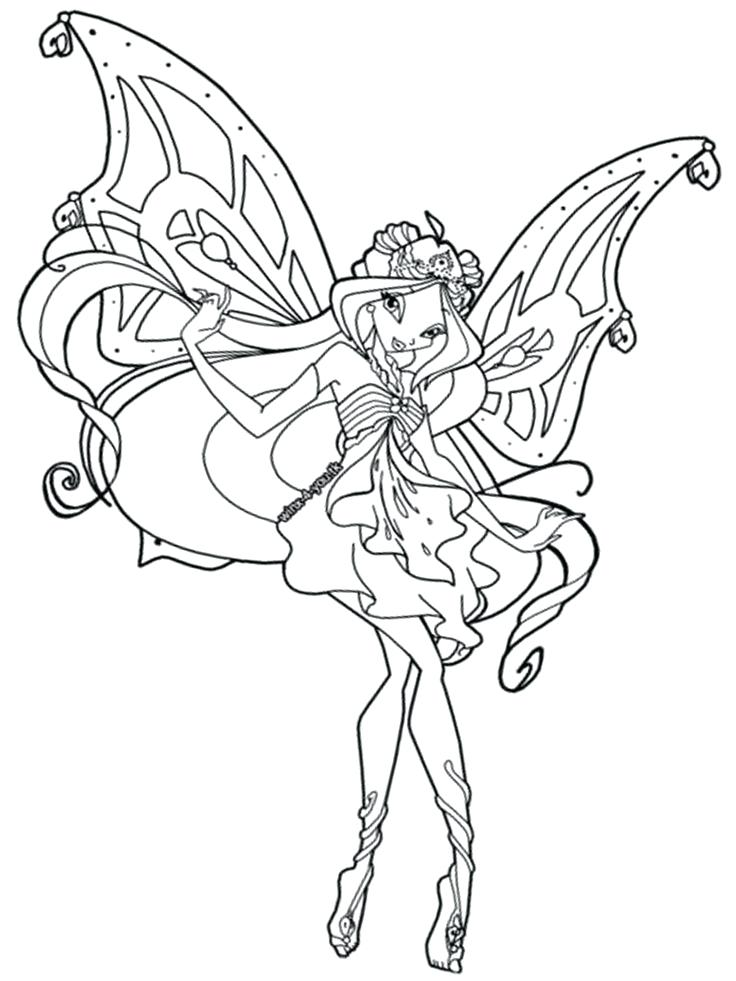 Winx Club Coloring Book Download Club Coloring Pages - Winx Club Coloring Pages Enchantix , HD Wallpaper & Backgrounds