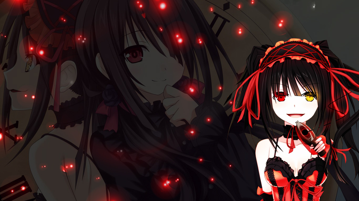Tokisaki Kurumi Theme Windows 7 203213 Hd Wallpaper