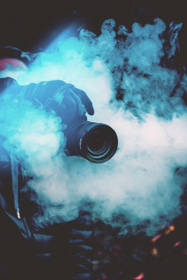 Download Photographer Smoke Camera Wallpapers Colored