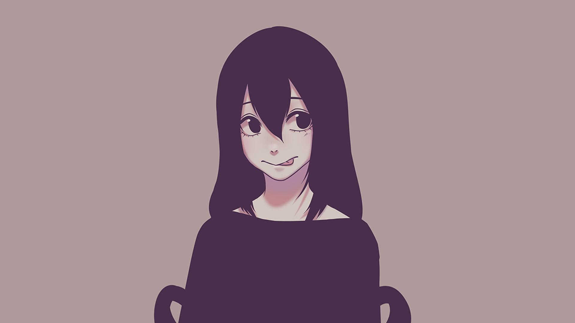 Anime Boku No Hero Academia Tsuyu Asui Simple Background