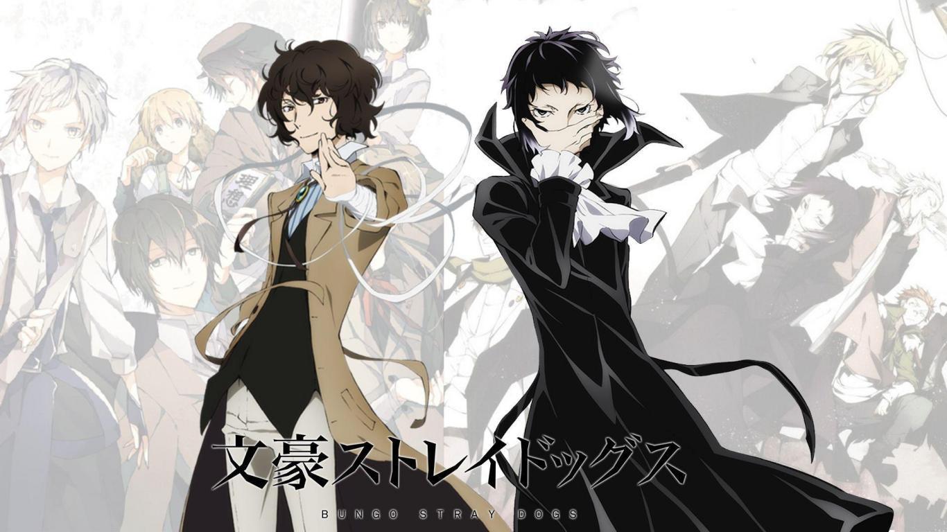 Dazai Osamu Background Bungou Stray Dogs Wallpaper Gambarku