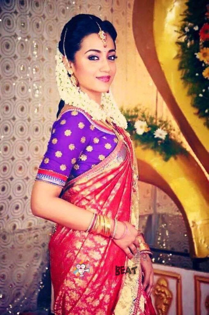 Blouse Neck Designs Photos Wallpapers - Sakalakala Vallavan Trisha Saree , HD Wallpaper & Backgrounds