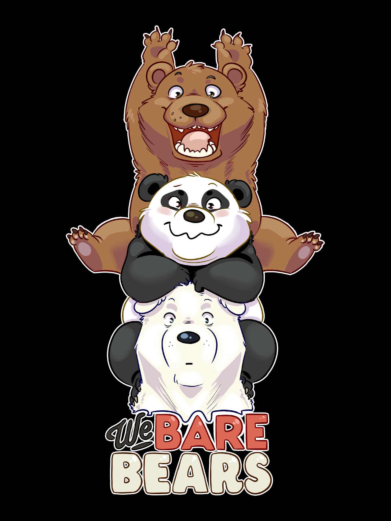Bare Bear Giant Panda Cartoon Mammal Vertebrate Poster We