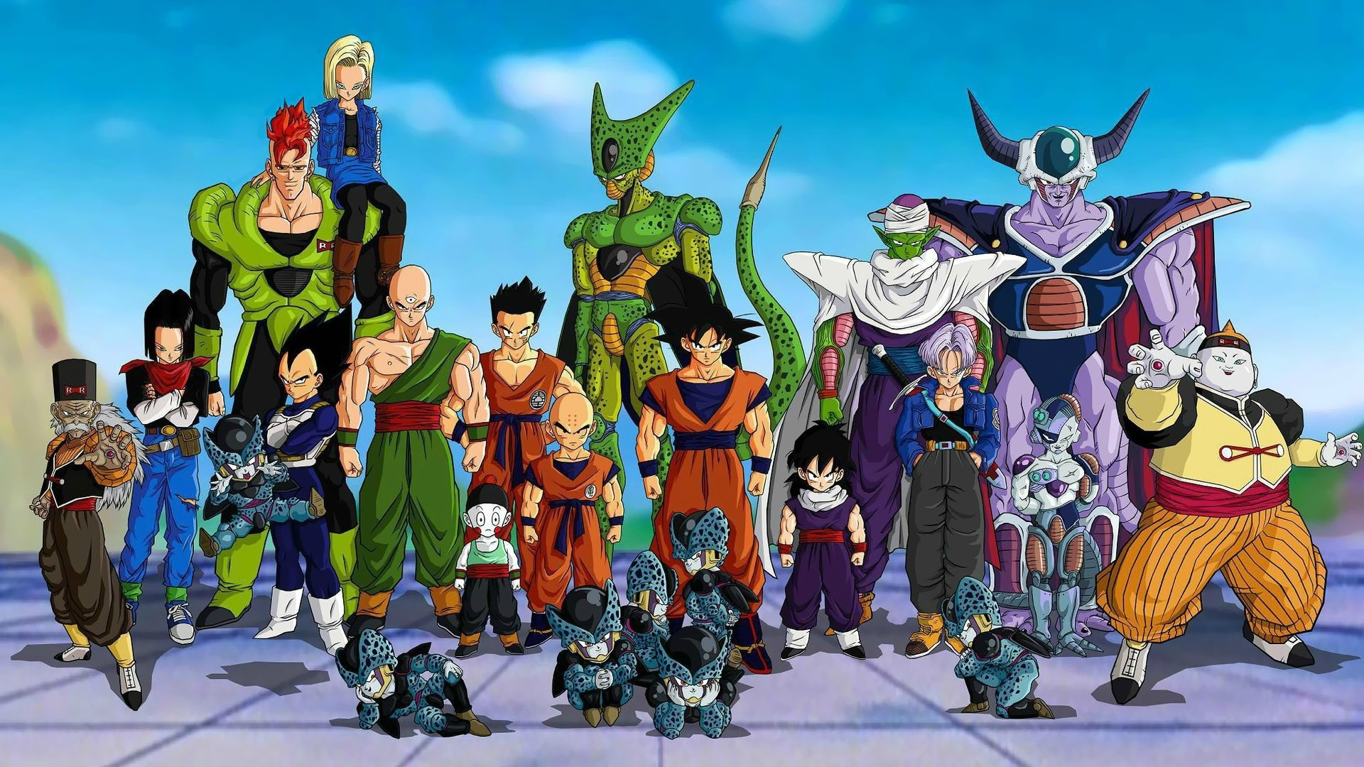 Krillin Android 17 Android 18 Tien Shinhan Dr Dragon Ball Z