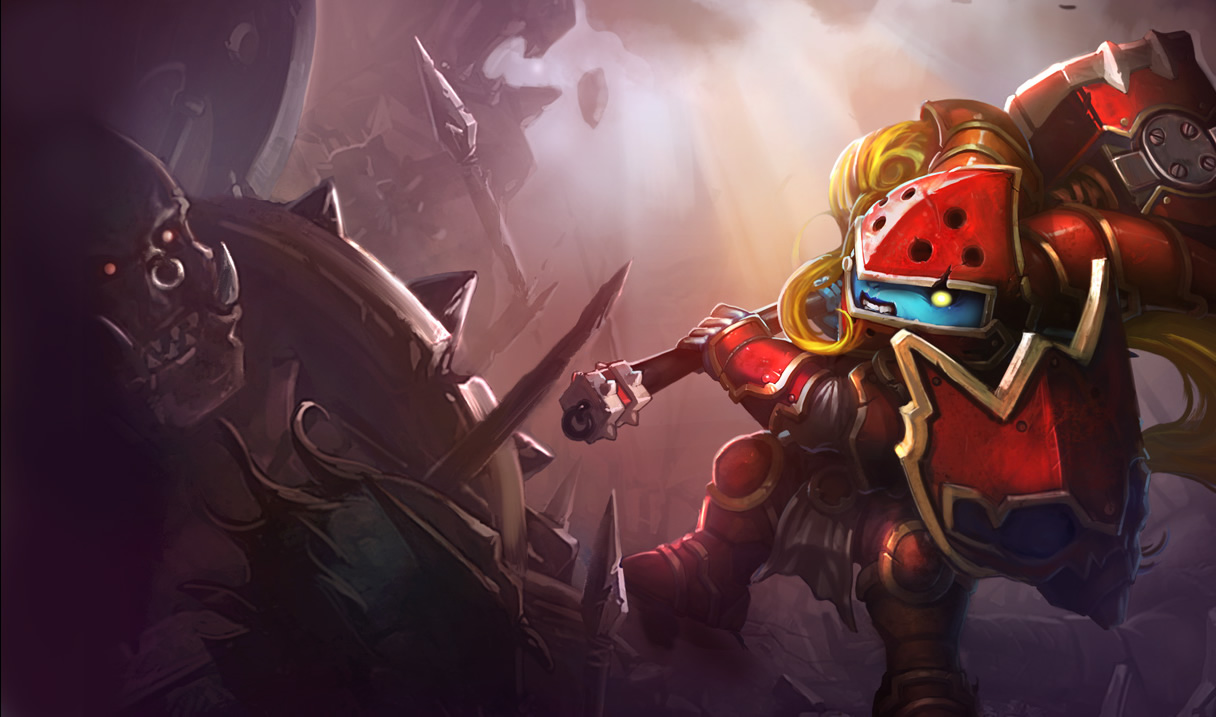 League Of Legends Scarlet Hammer Poppy League Desktop Lol Old