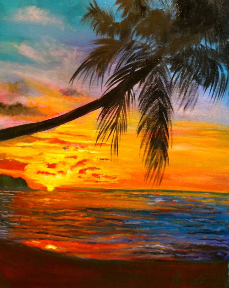Cherl12345 Images Palm Tree Sunset Hd Wallpaper And - Palm Tree And Sunset , HD Wallpaper & Backgrounds