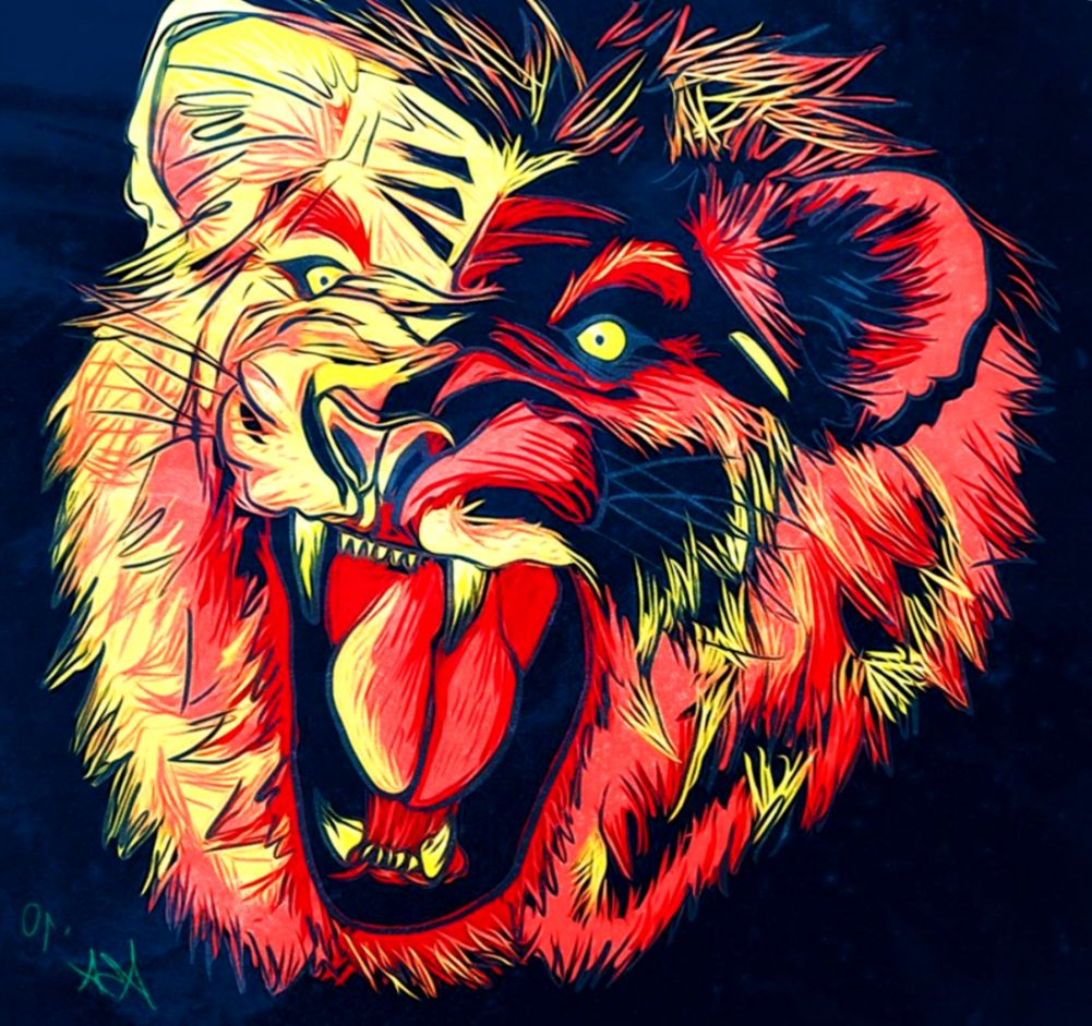 Artistic Lions Wallpapers Hd Desktop And Mobile Backgrounds - Red Hd Wallpaper Lion , HD Wallpaper & Backgrounds