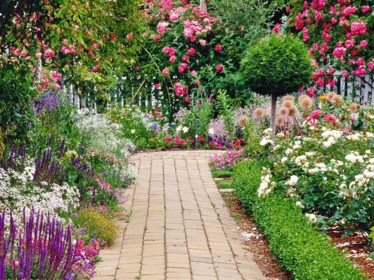Flower Garden Wallpaper Background Hd