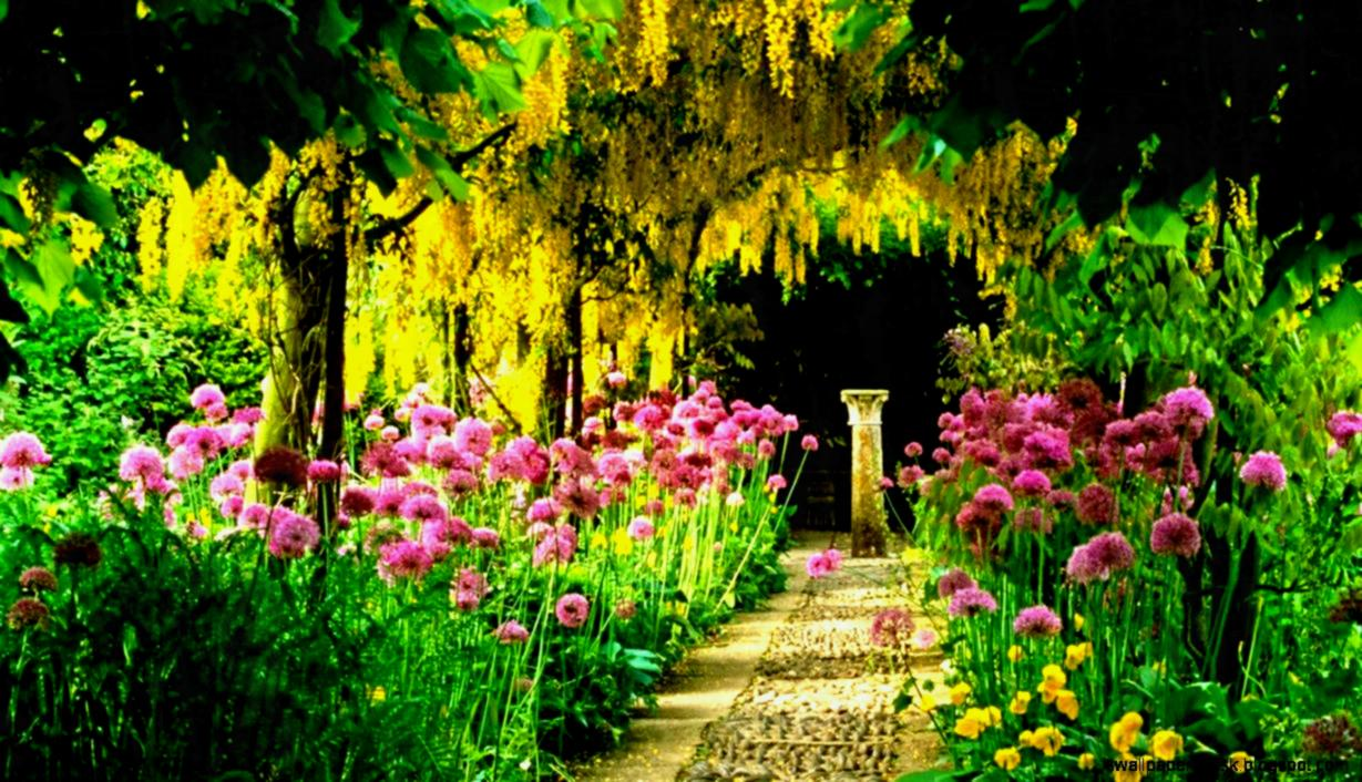 View Original Size Flower Gardens Wallpapers Desktop - Philosopher's Garden , HD Wallpaper & Backgrounds
