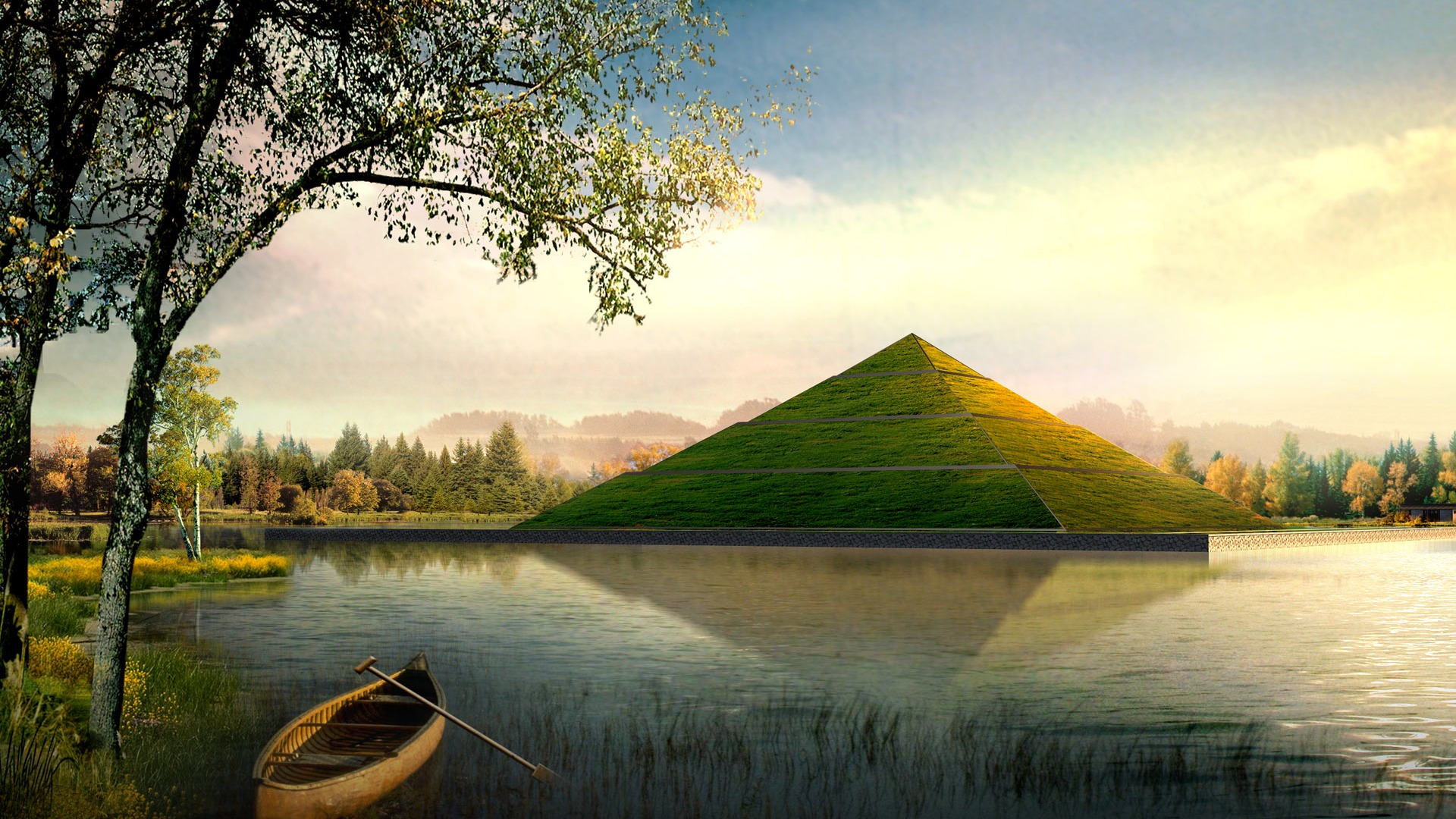 Pyramid Grass 2014872 Hd Wallpaper Backgrounds Download