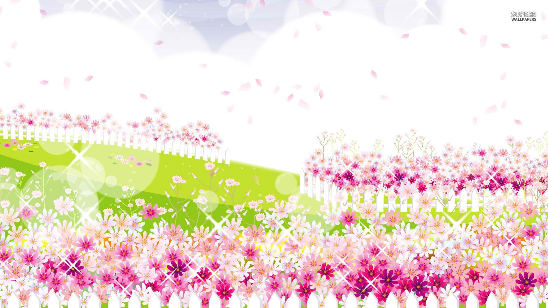Pink Flower Garden Disney Garden Wallpaper Pink 2015513 Hd Wallpaper Backgrounds Download