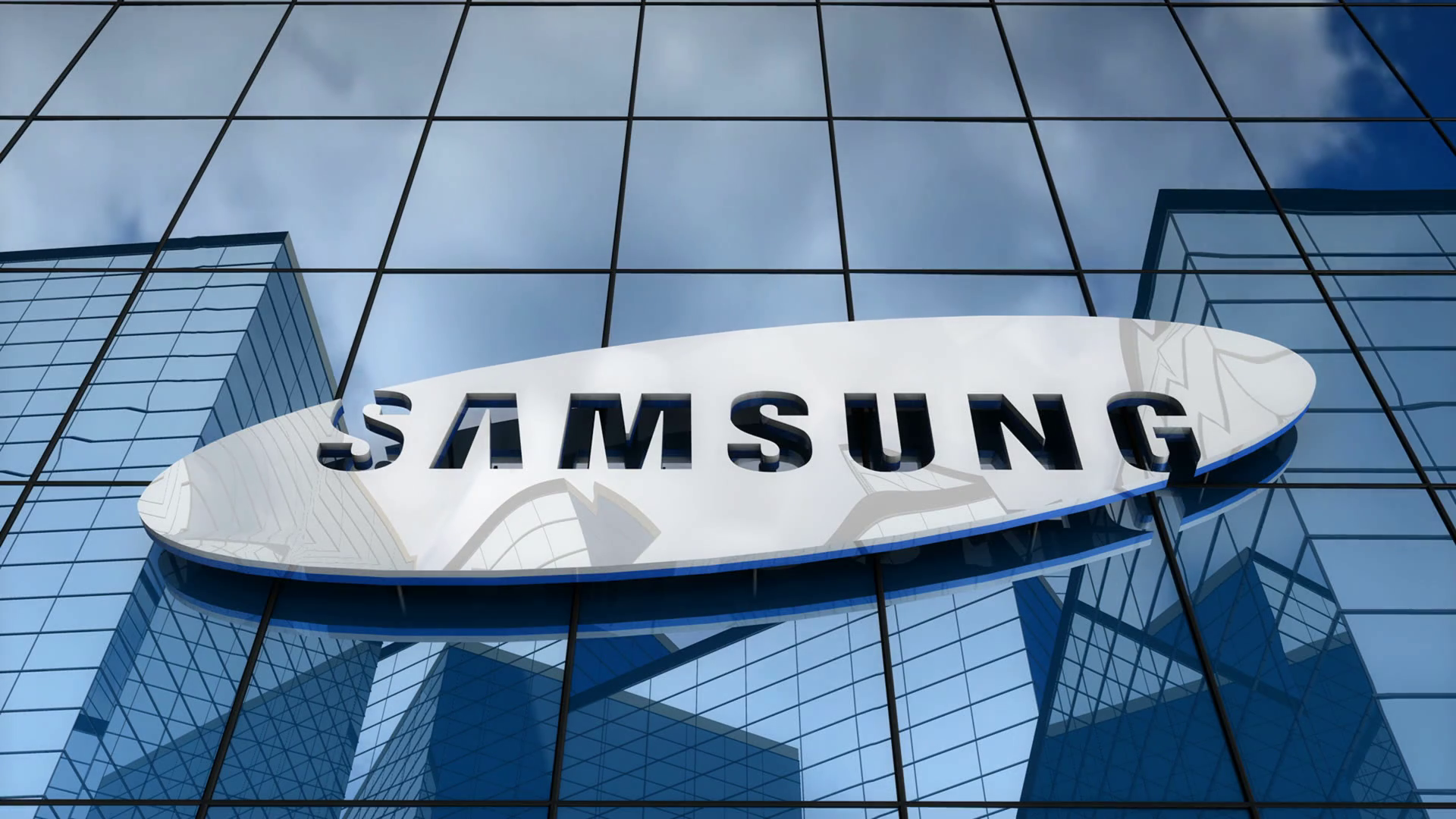 Editorial Samsung Logo On Glass Building Logo De Samsung 2019 2021045 Hd Wallpaper Backgrounds Download
