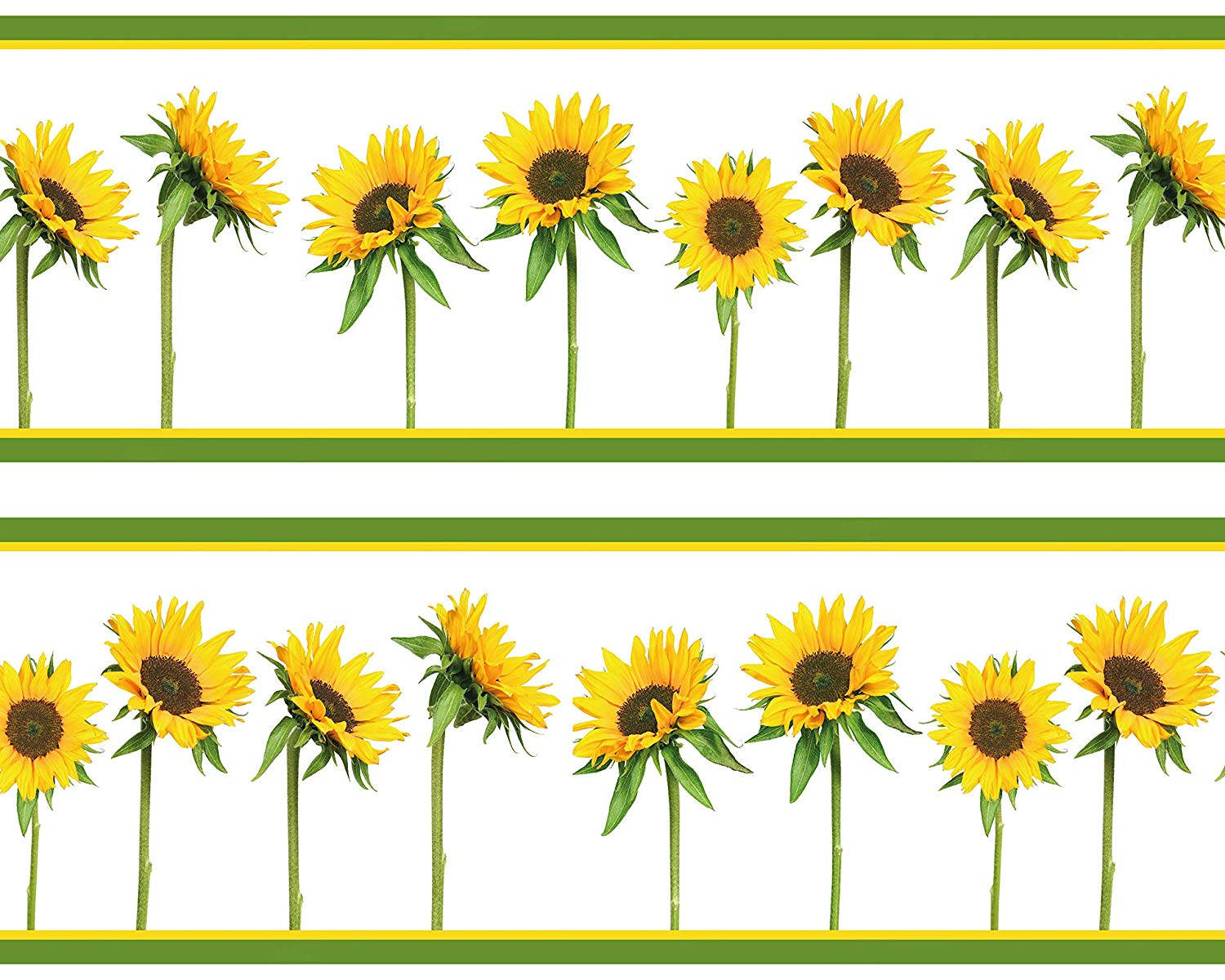 Sunflowers Adhesive Wall Border 4 Pieces 520 X 15 Sunflower