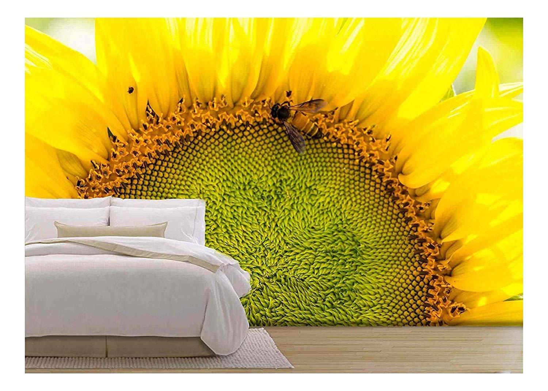 Amazon - Com - Wall26 - Sunflower - Removable Wall - Sunflower Wall Murals , HD Wallpaper & Backgrounds