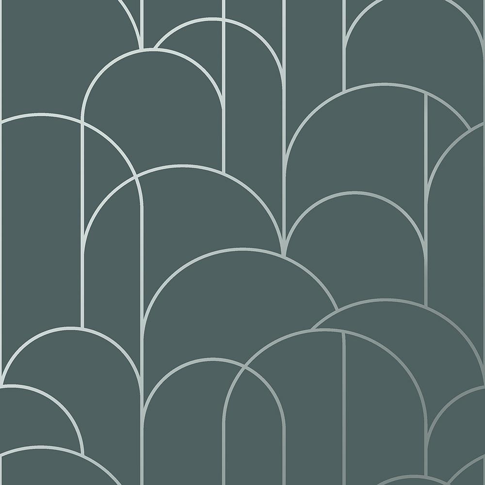 Arch Slate Geometric Wallpaper Arch Geometric Brewster